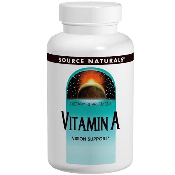 Source Naturals, ВитаминА, 10000IU, 100таблеток